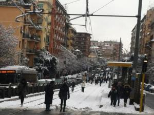 torpignattara sotto la neve