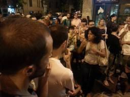 Assemblea Piazza della Marranella - Donatella riporta l'esperienza del Cantiere di Alo' Giovannoli