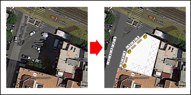 Scheda di riqualificazione della piazza Michele Sanmicheli