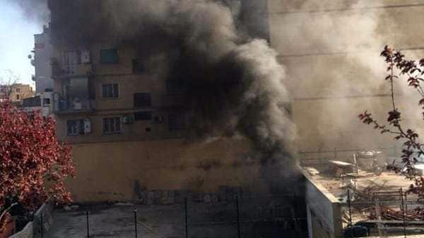 Incendio via Perestrello (foto dal gruppo facebook sei del Prenestino Labicano)