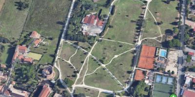 Vista dall'alto di Villa De Sanctis